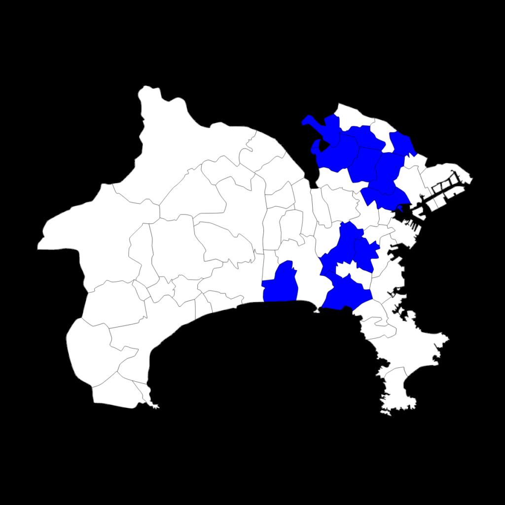 神奈川におけるSAPIXの分布