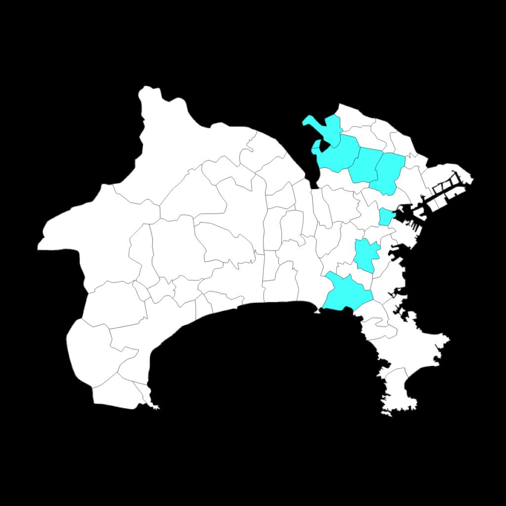 神奈川における四谷大塚の分布