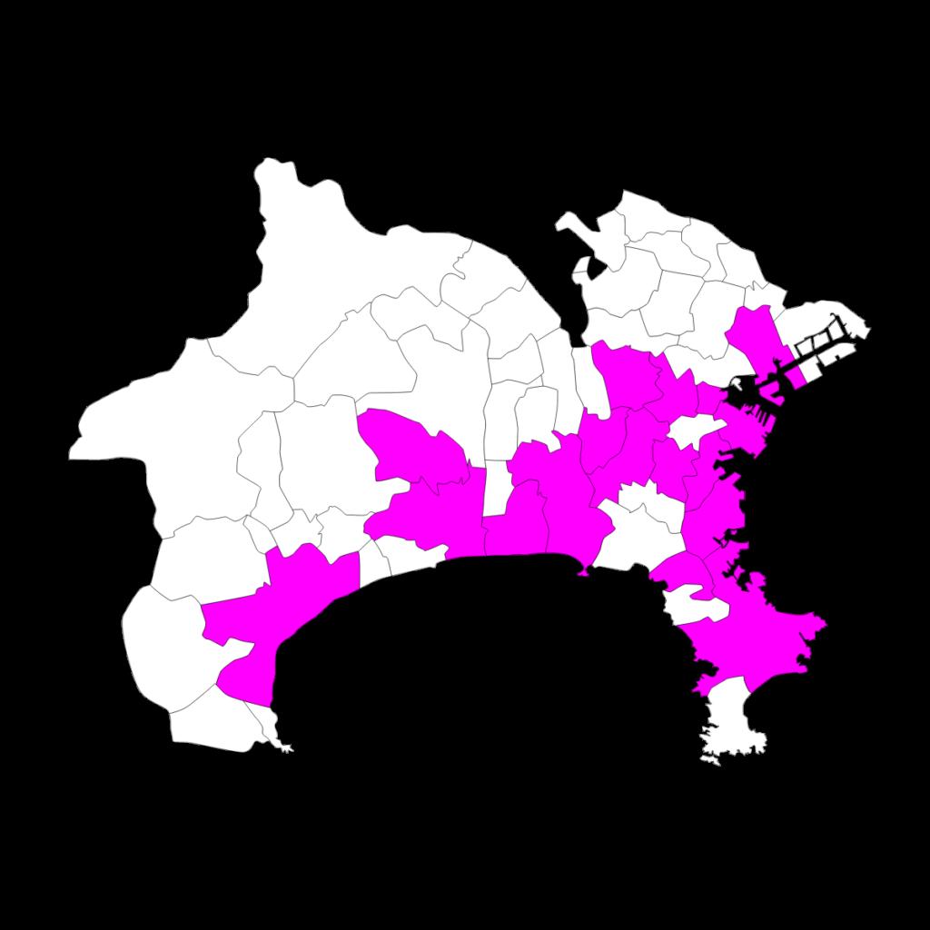 神奈川における啓明館の分布